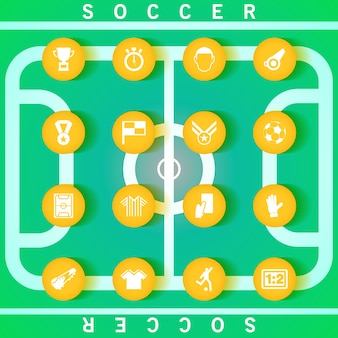 Vector soccer icon set