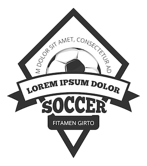 Vector soccer logo template