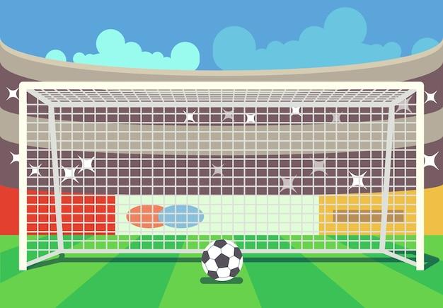 Векторный футбольный стадион и иллюстрация
