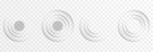 Вектор звуковые волны сонар волны радар поисковый радар png