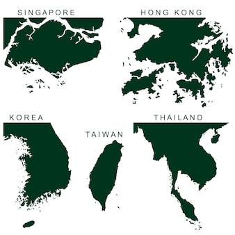 白い背景で隔離のベクトル東南アジアのピクトグラム