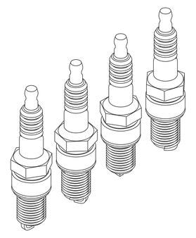 Vector spark plug set of 4