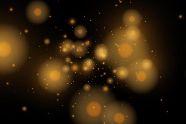 벡터는 투명한 배경에서 반짝입니다. 크리스마스 조명 효과입니다. 반짝이는 마법의 먼지 입자.