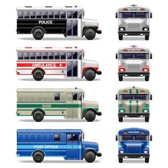 特別なバスのアイコンをベクトルします
