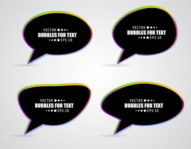 Vector speech bubble.