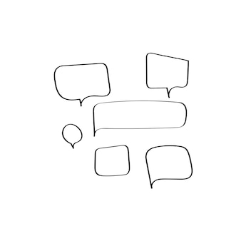 Vector of speech bubbles collection