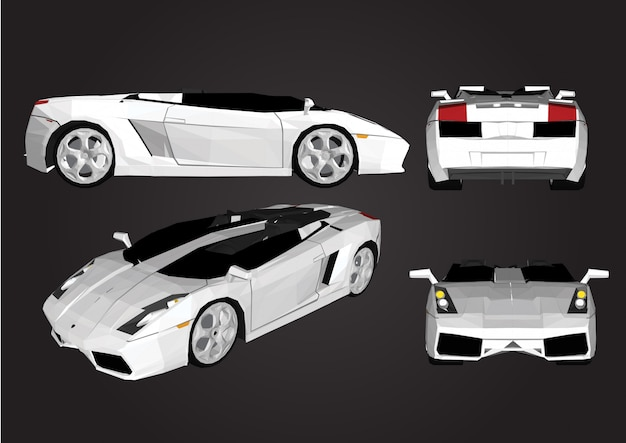 Vector sports car isolated