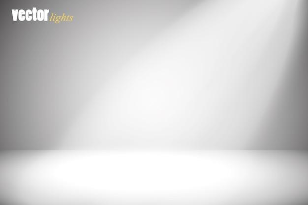 灰色の背景にベクトルスポットライト