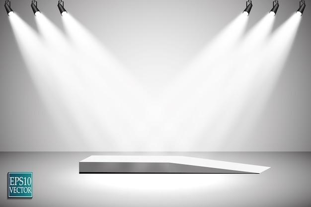 透明な背景にスポットライトをベクトル