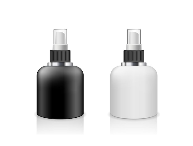 Vector spray bottle black and white products low size design collection