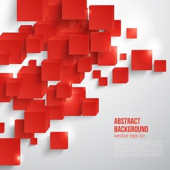 Векторный квадрат. абстрактный фон карты красный.