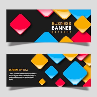 Vector square banner design