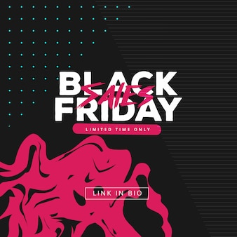 Vector square black friday web banner