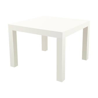 Vector square side table illustration