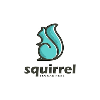 Vector squirrel outline and color