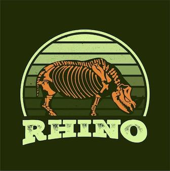 Векторная иллюстрация фондовых векторные иллюстрации скелет носорога изолированы