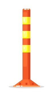 Вектор полосатый столб барьер изолированные
