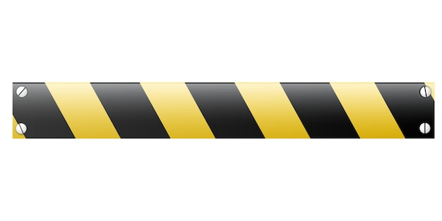 Vector striped prohibiting barrier.