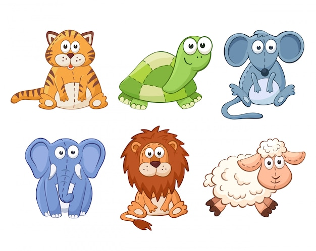Vector stuffed toy isolated