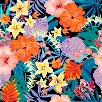 Vector summer exotic seamless pattern