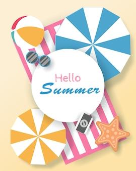 Vector of summer poster, banner summer travel. eps 10 vector.