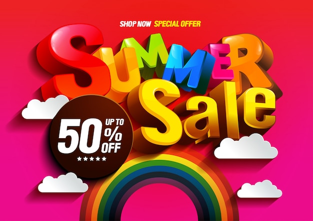 Vector summer sale colorful