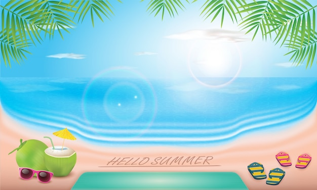 Vector summer time holiday typographic illustration