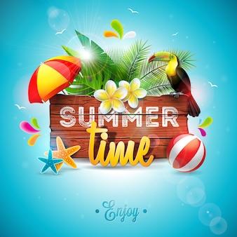 벡터 여름 시간