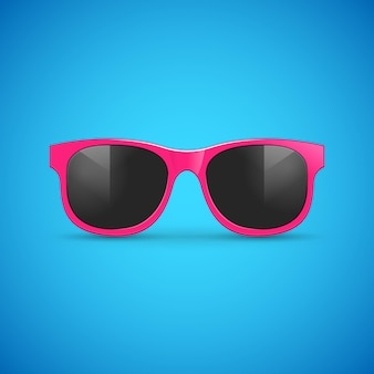 Вектор солнцезащитные очки на синем.