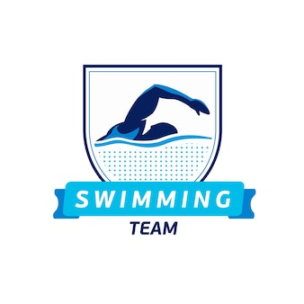 Vector swimming team logo