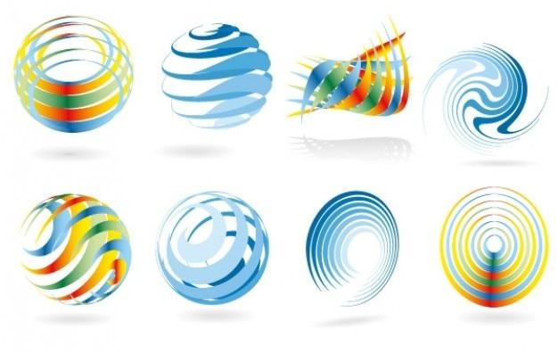 Vector swirl & twirl colours
