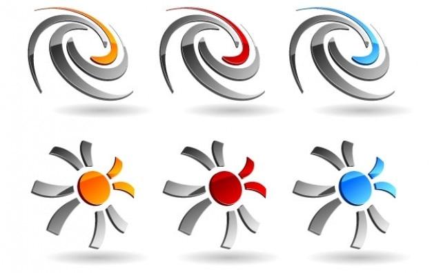 Vector swirld & suns