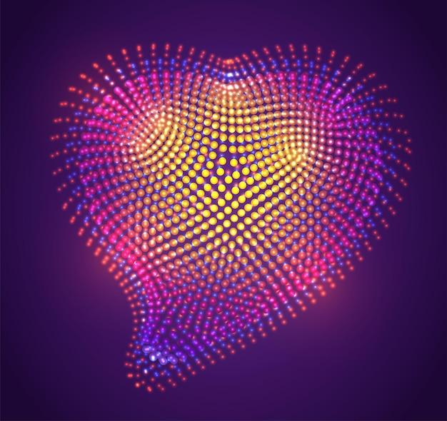 紫色の背景に明るい点のベクトル記号