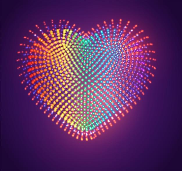 明るい点、虹のグラデーションのベクトル記号