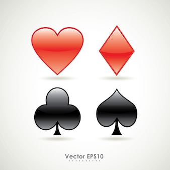 Vector symbols of playing poker card sign