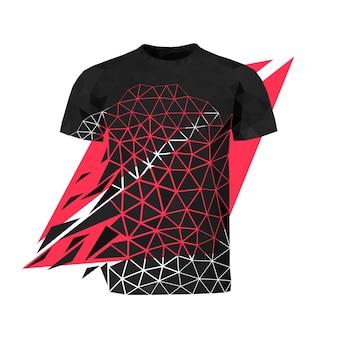低ポリスタイルのベクトルtシャツ。デジタルアート