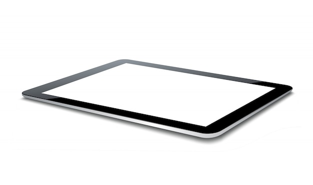 Vector tablet pc isolated on white.
