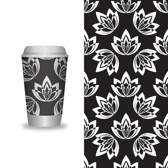 벡터는 커피숍용 커피 포장 템플릿 및 디자인 요소를 제거합니다.