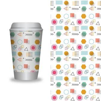 Vector take away coffee packaging templates and design elements for coffee shops