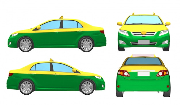 Vector taxi for passengers in thailand