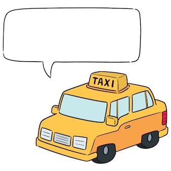 Vector of taxi