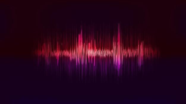 진동 소리와 공명 벡터 테크노 배경입니다.