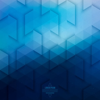 Vector technology abstract geometric background. vector blue background.