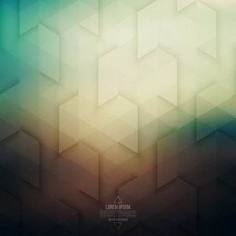 Vector technology abstract geometric retro background