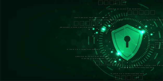 Векторный фон технологии в концепции систем безопасности.