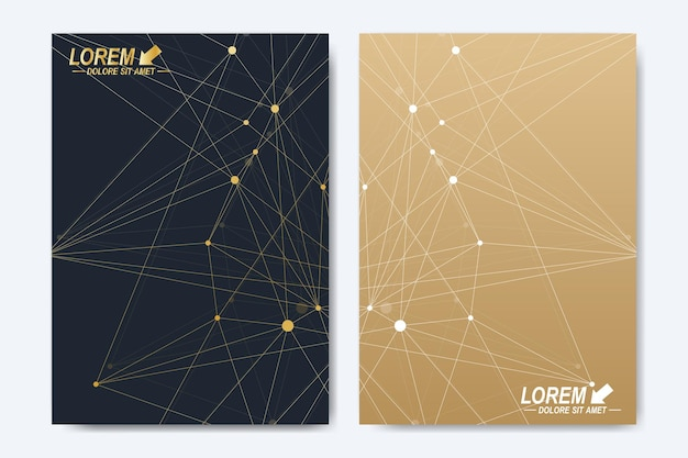 Vector template for brochure leaflet flyer advert cover catalog magazine or annual report geometric ...