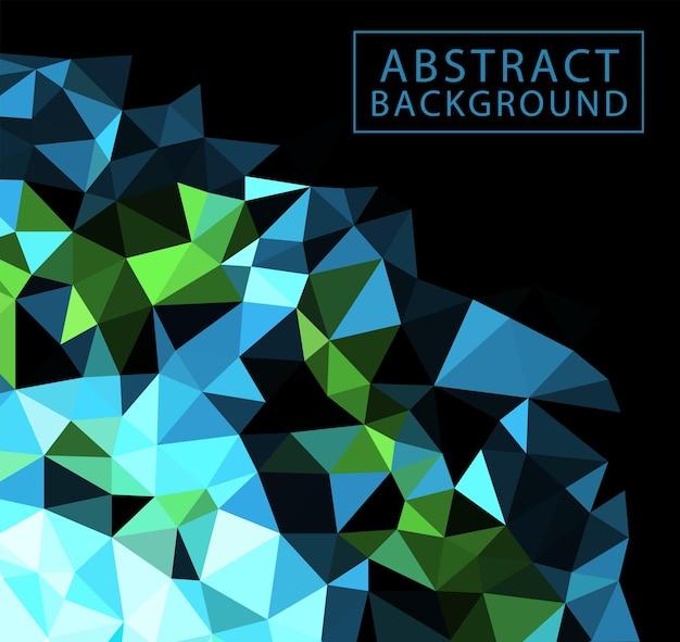カラフルな抽象的な幾何学模様のアートスタイルの詳細と会社のロゴのベクトルテンプレートチラシフォーム