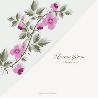 Vector template for folder, business card and invitation