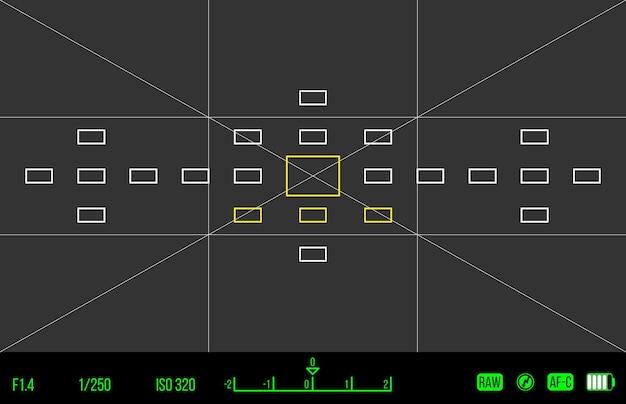 Векторный шаблон для вашего дизайна. видоискатель камеры. экран фокусировки камеры. запись камеры видоискателя.