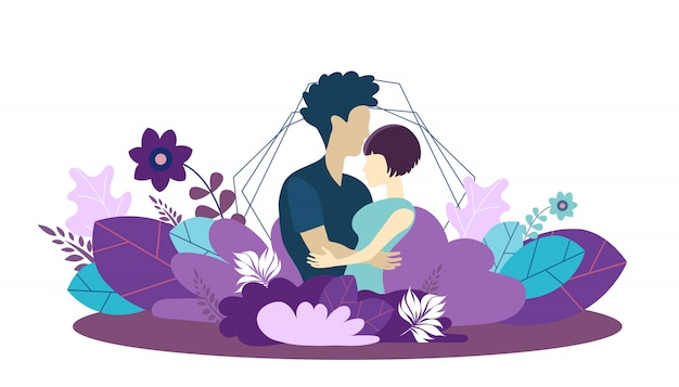 Vector template for growing family and love